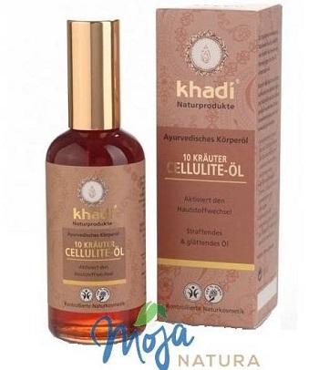 Antycellulitowy olejek z 10 ajurwedyjskich ziół 100ml KHADI
